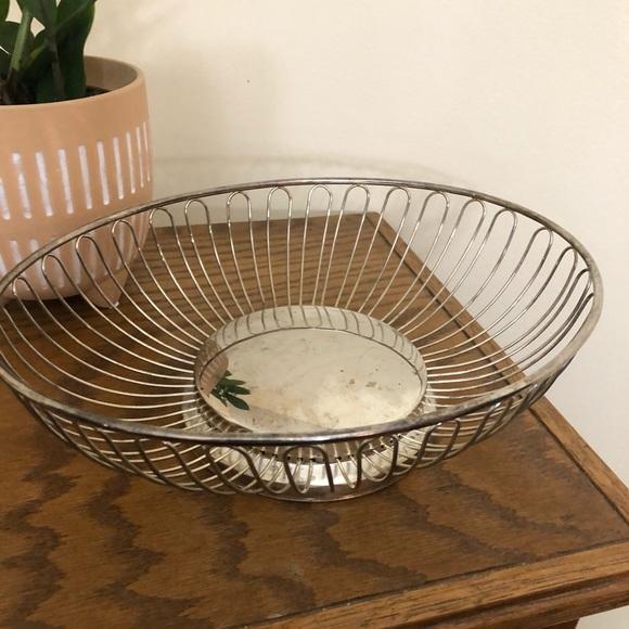 Oval Vintage Metal Basket